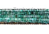 CAA2888 15 inches 6mm faceted round fire crackle agate beads wholesale