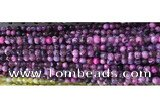 CAA2892 15 inches 6mm faceted round fire crackle agate beads wholesale