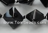 CAA293 15.5 inches 18*18*18mm black line agate gemstone beads