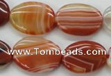 CAA295 15.5 inches 18*25mm oval red line agate gemstone beads