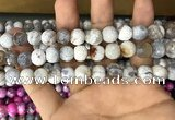 CAA3059 15 inches 10mm faceted round fire crackle agate beads wholesale