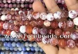 CAA3074 15 inches 10mm faceted round fire crackle agate beads wholesale