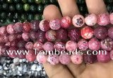 CAA3076 15 inches 10mm faceted round fire crackle agate beads wholesale