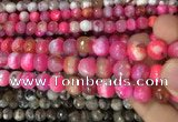 CAA3086 15 inches 10mm faceted round fire crackle agate beads wholesale