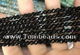 CAA3271 15 inches 4mm faceted round agate beads wholesale