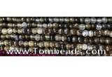 CAA3294 15 inches 6mm faceted round agate beads wholesale