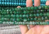 CAA3341 15 inches 8mm faceted round agate beads wholesale