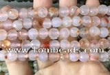 CAA3343 15 inches 8mm faceted round agate beads wholesale