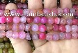 CAA3351 15 inches 8mm faceted round agate beads wholesale
