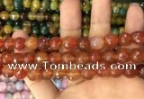 CAA3367 15 inches 10mm faceted round agate beads wholesale