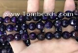 CAA3379 15 inches 10mm faceted round agate beads wholesale
