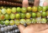 CAA3430 15 inches 14mm faceted round agate beads wholesale