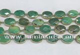 CAA3526 7.5 inches 13*18mm faceted oval grass agate beads