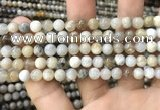 CAA3582 15.5 inches 6mm round ocean fossil agate beads wholesale