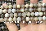 CAA3583 15.5 inches 8mm round ocean fossil agate beads wholesale