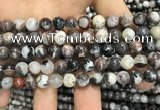 CAA3593 15.5 inches 8mm round black zebra agate beads wholesale