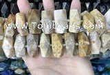 CAA3717 13*26mm - 15*30mm faceted nuggets chrysanthemum agate beads