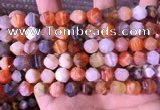 CAA3763 15.5 inches 10mm faceted nuggets mixed botswana agate beads