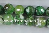 CAA379 15.5 inches 16mm faceted round fire crackle agate beads