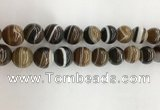 CAA3803 15.5 inches 14mm round line agate beads wholesale