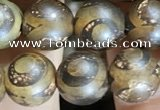 CAA3860 15 inches 8mm round tibetan agate beads wholesale