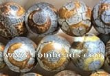 CAA3865 15 inches 8mm round tibetan agate beads wholesale