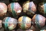 CAA3878 15 inches 8mm round tibetan agate beads wholesale