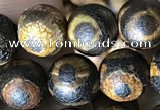 CAA3886 15 inches 8mm round tibetan agate beads wholesale