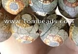 CAA3904 15 inches 10mm round tibetan agate beads wholesale