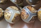 CAA3911 15 inches 10mm round tibetan agate beads wholesale