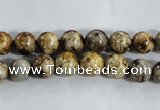 CAA392 15.5 inches 6mm round fire crackle agate beads wholesale