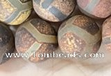 CAA3921 15 inches 12mm round tibetan agate beads wholesale