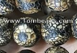 CAA3928 15 inches 12mm round tibetan agate beads wholesale