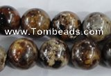 CAA398 15.5 inches 18mm round fire crackle agate beads wholesale