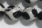 CAA3987 15 inches 10mm round tibetan agate beads wholesale