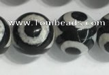 CAA3993 15 inches 12mm round tibetan agate beads wholesale