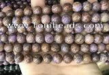 CAA4002 15.5 inches 8mm round purple crazy lace agate beads