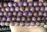 CAA4004 15.5 inches 12mm round purple crazy lace agate beads