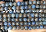 CAA4010 15.5 inches 8mm round blue crazy lace agate beads