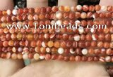 CAA4025 15.5 inches 4mm round line agate beads wholesale