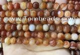 CAA4027 15.5 inches 8mm round line agate beads wholesale