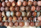 CAA4030 15.5 inches 14mm round line agate beads wholesale
