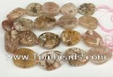 CAA4045 15.5 inches 25*35mm - 30*40mm freeform sakura agate beads