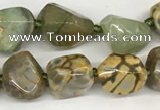 CAA4060 10*14mm - 12*16mm nuggets dragon vein agate beads