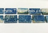 CAA4085 15.5 inches 25*40mm rectangle chrysanthemum agate beads