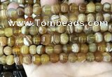 CAA4140 15.5 inches 8mm pumpkin line agate beads wholesale