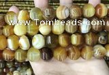 CAA4143 15.5 inches 14mm pumpkin line agate beads wholesale