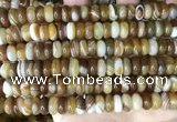 CAA4146 15.5 inches 5*10mm rondelle line agate beads wholesale