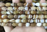 CAA4158 15.5 inches 8*12mm rice line agate beads wholesale