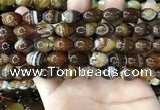 CAA4159 15.5 inches 10*14mm rice line agate beads wholesale